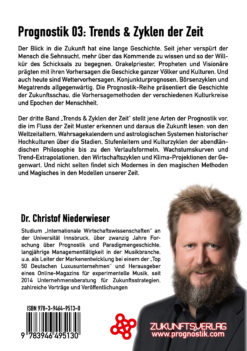 Prognostik 03: Trends & Zyklen der Zeit - Christof Niederwieser Backcover